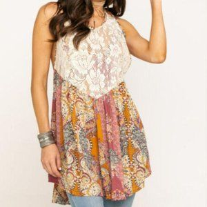 NWT FP Free People Count Me In Floral Trapeze